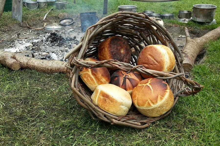 A wonderful basket of tasty bread with different designs to make each unique
