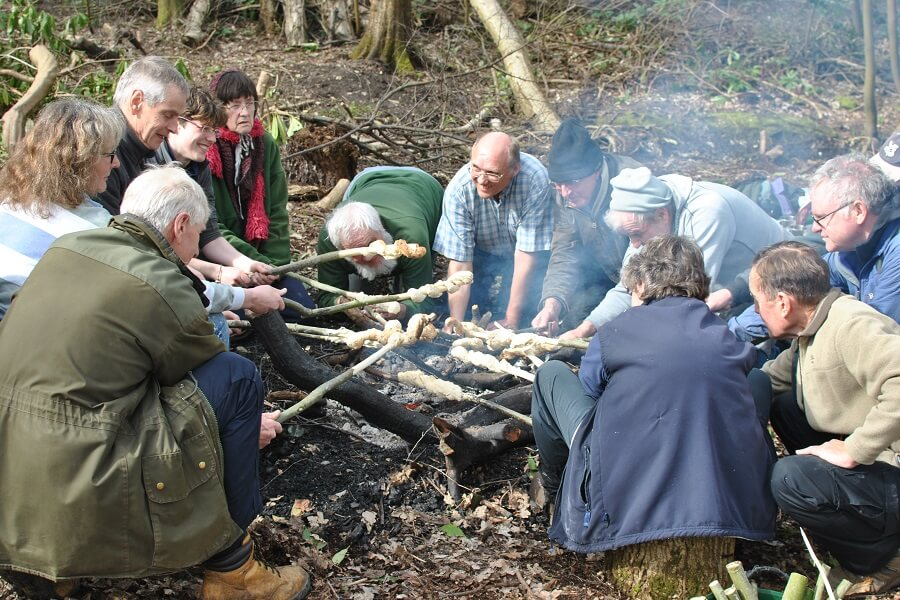 March - a day of Bushcraft for volunteer rangers