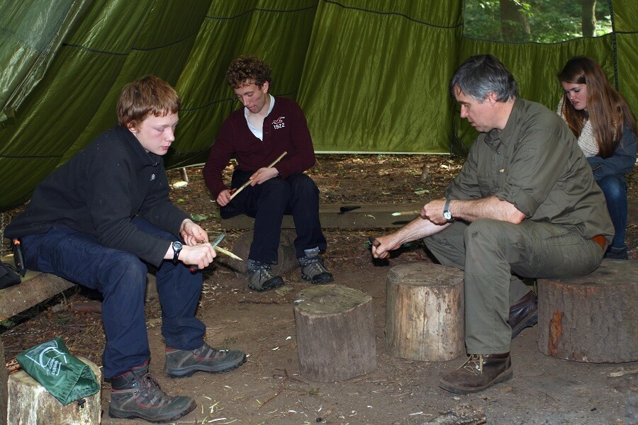Explorer Scouts learn knife skills