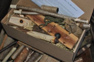 Create fire-by-friction using the bow-drill method, includes full instructions.