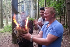 Successful fire-by-friction delivers big smiles