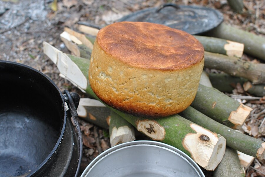 Fortified bread baked in a Dutch oven