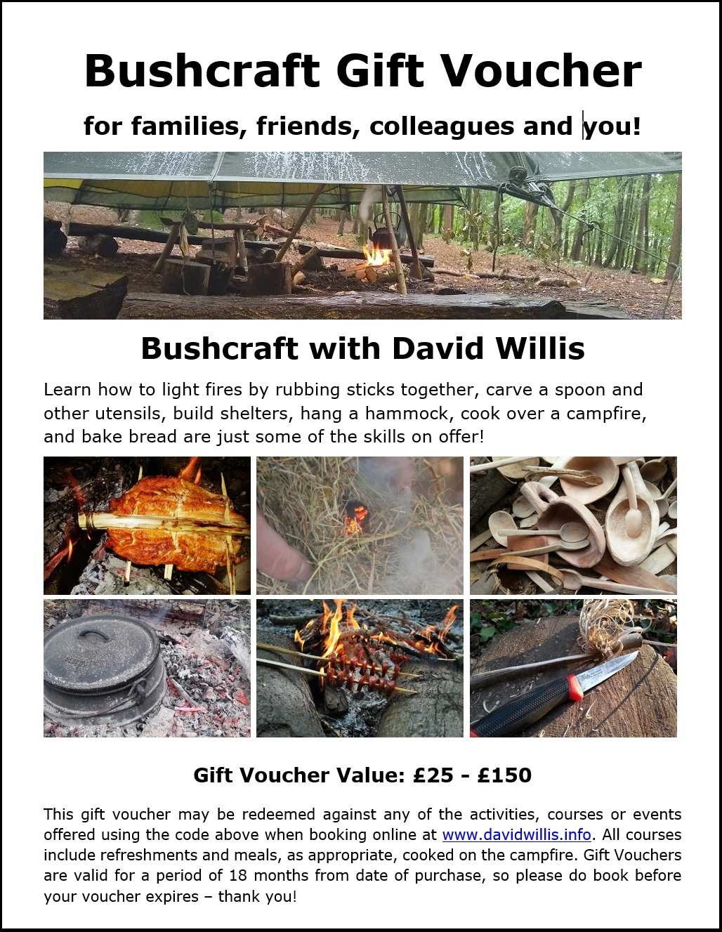 Gift Voucher for Bushcraft Courses