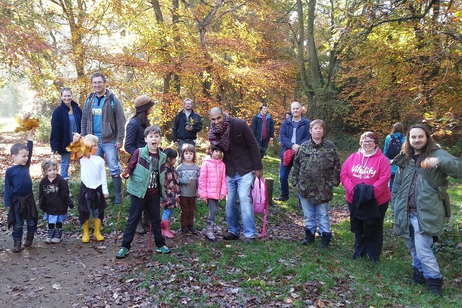 Family guided woodland walk in the Chilterns