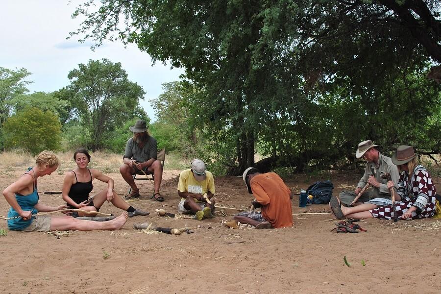 Namibia Making chop chops