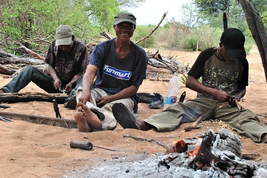 Namibia - San working metal