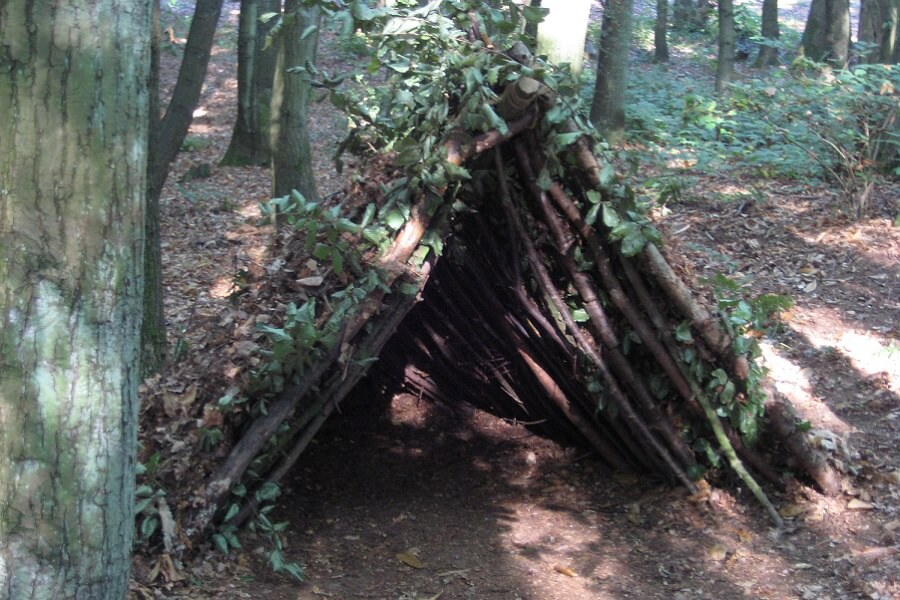 Shelter made with natural resources