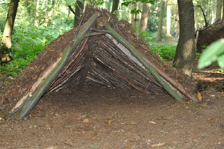 Man Made Shelters : Bushcraft course with david willis