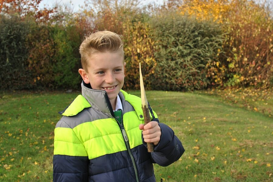 Happy carving a pointy stick - Bushcraft enrichment