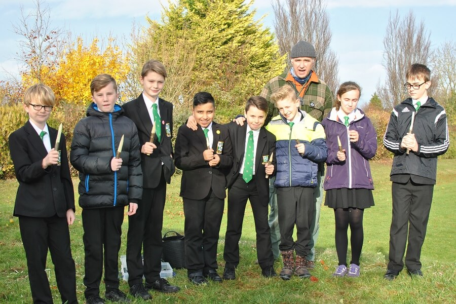 Proud of their achievment - Bushcraft enrichment