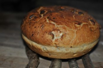 Sweet chestnut bread - the freshly baked loaf