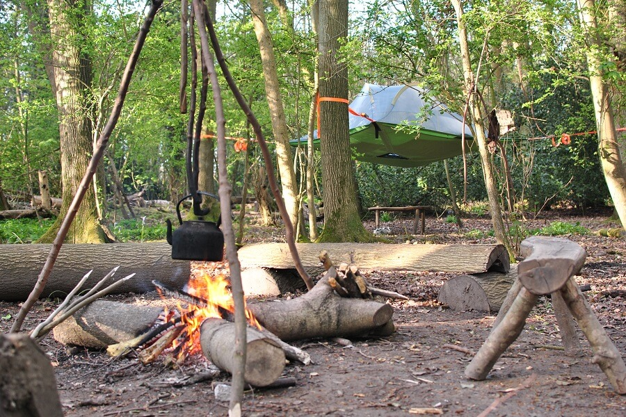 First night in a Tentsile Stingray tree tent in Bushcraft camp