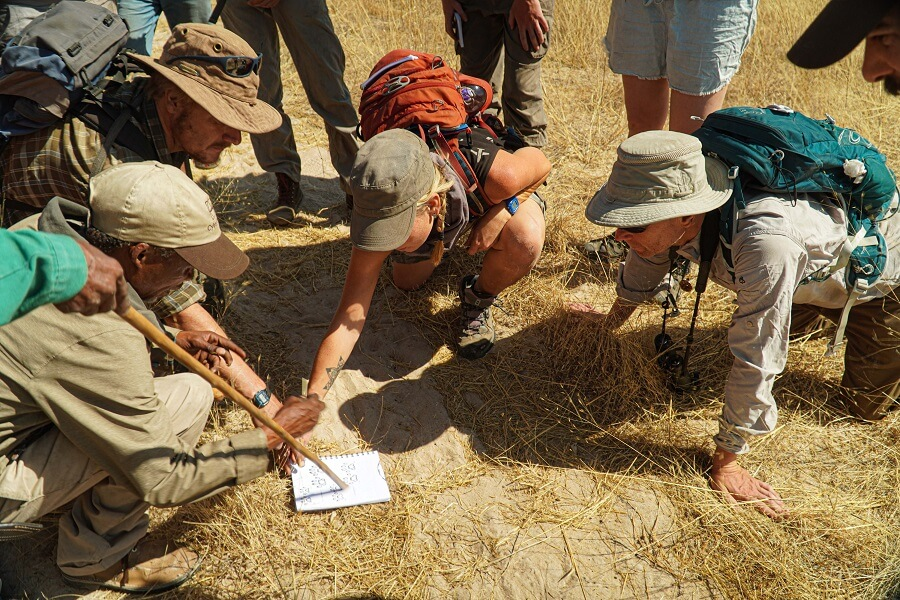 Tracking with the Bushmen in the Kalahari - The Old Way