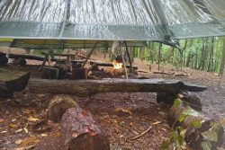 Woodland parachute camp - our Bushcraft classroom in the wilds of the Chilterns